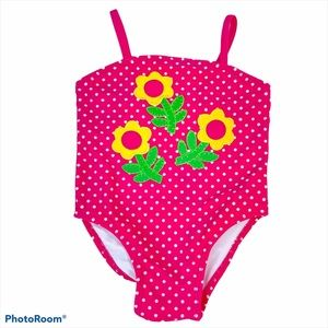 Baby Girl One-Piece Pink Polka Dot Swimsuit